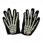GLOVES adult:SKELETON white