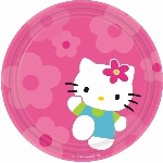 Platos 23cm (8) Hello Kitty (OFERTA)