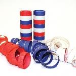 Serpentinas Red, White & Blue Serpentine Rolls - 4mm x 14mm (9 throws per roll)