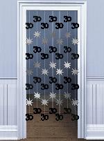 Decoracion Colgante Puerta:BLK/SILVER 30