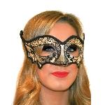 Disfraz Acc Fangtastic Black & Silver Masquerade Masks