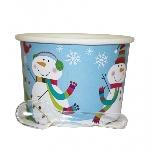 Tarrina Joyful Snowman 12 Dessert Pots With Spoons