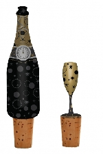New year Wine bottle stopper