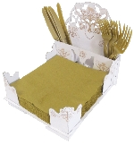 Servilletero Rustic Wedding Napkins/Cutlery Holder
