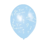 Globos Communion Blue Latex Balloons - (All Over Print) - 27.5cm 5