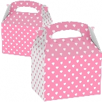 Caja Favours Party Pink & White Hearts - 7