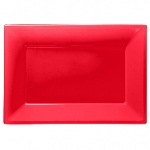 Fuente roja de plástico-23cm x 32cm