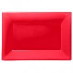 Plato Apple Red Plastic Serving Platters