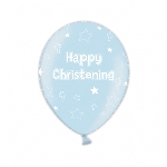 Globos Christening Icy Blue Latex Balloons