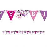 Banderin Owls Happy Birthday Letter