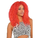 Red Crimped Wig  **Stock