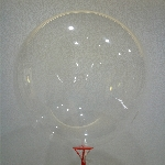 10 GLOBOS BUBBLE - BURBUJA CRISTAL 24'- 60cm (SIN PALO, SIN COPA)