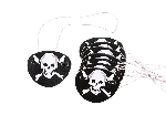 Juguete 12 PIRATE EYE PATCHES  **Stock
