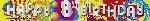 Banderin 2.7m HoloG Happy 8th BD