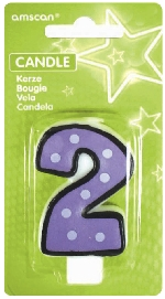 Vela White Dots & Black Border Number 2 - 7.6cm