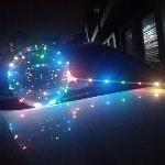 SOLO LUZ LED DE COLORES EN TIRA PARA GLOBO BUBBLE 18' 45CM - 3 metros de tira (SIN PILAS, SIN GLOBO, SIN COPA, SIN PALO)