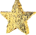 Piñata Gold Foil Star