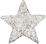 Piñata Silver Foil Star