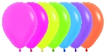 GLOBO LATEX SURTIDO NEON 209-12-20-30-40-51-61 30cm