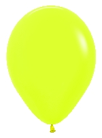 GLOBO LATEX NEON AMARILLO 30cm