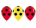 GLOBO LATEX FASHION ROJOS Y AMARILLOS BALON 30 cm