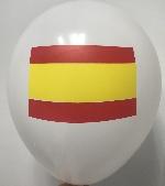 Globo Latex R12 Sempertex Fashion Solido Blanco Bandera España 30 cm