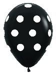 G LATEX FASHION NEGRO PUNTOS BLANCOS 30cm
