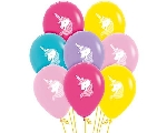 GLOBO LATEX FASHION SURT UNICORNIO 2 CARAS 30cm