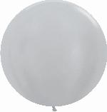 GLOBO LATEX SATIN PLATA 60cm