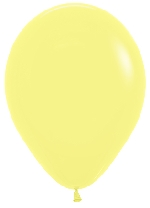 GLOBO LATEX FASHION SLD AMARILLO PASTEL 12.5cm