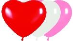 R6 Forma Corazon Surtidos Fashion 15cm - blanco, rosado, fucsia, rojo, amarillo, verde lima y lila