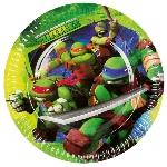 Platos TeenEdad Mutant Ninja Turtles Paper Plates 23cm
