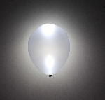 GLOBO LATEX CON LED PLATA METALICO