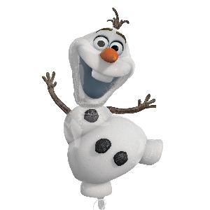 Globo Disney de Olaf de Frozen- metalizado 104cm