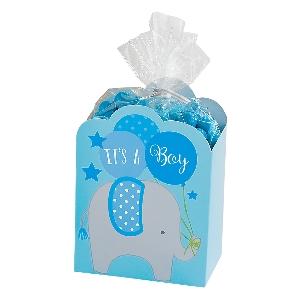 Kit Caja de Favores de Baby Shower en Azul - Accesorios Baby Shower
