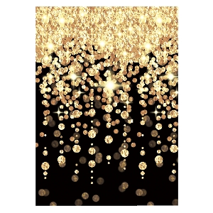 Decor. Pared Hollywood Cascading Lights Rolls 1. 2