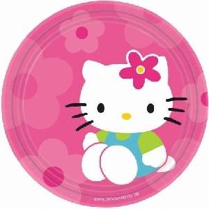 Platos 18cm (8) Hello Kitty (OFERTA)