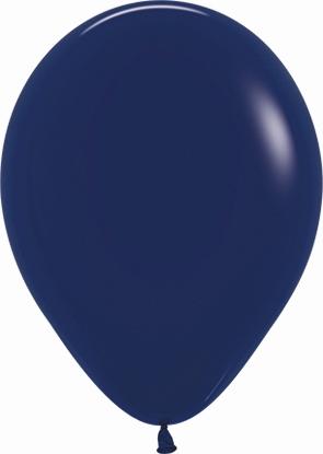Globo Latex R12 Sempertex Fashion Solido Azul Naval 30cm En Bolsa De 50 Unidades