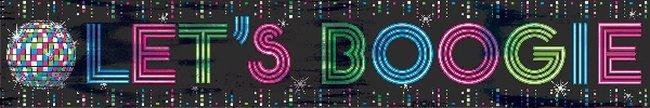 Fiebre Disco Años 70 Banner Pancarta Metalizado - 7,6m