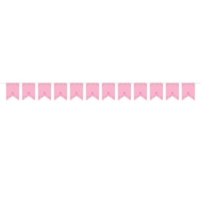 Banderines Personalizables Cruz Rosa 2,4m