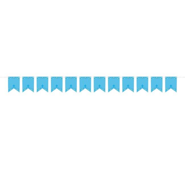Banderines Personalizables Cruz Azul 2,4m Decoración Religiosa