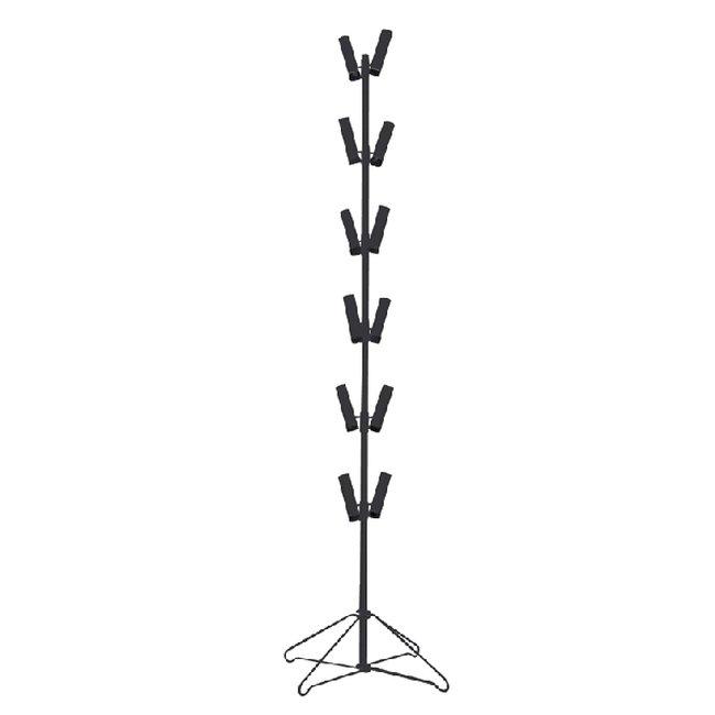 Acc expositor Air-Filled Metal Floor Display-Black - 24''/61cm w x 24''/61cm d x 36''/91cm