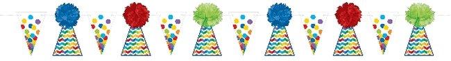 Banderín con forma de sombrero de fiesta de cumpleaños-3,65m