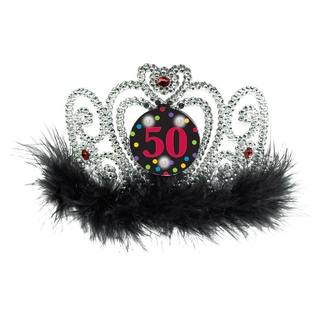 Tiara 50th Flashing Tiaras