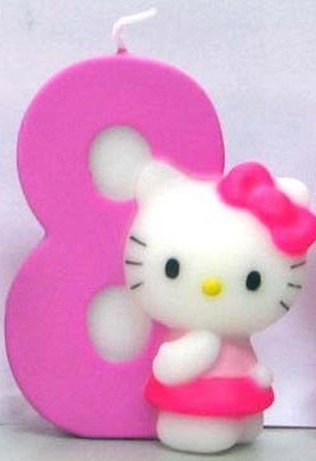 Vela Hello Kitty 7cm: N?8