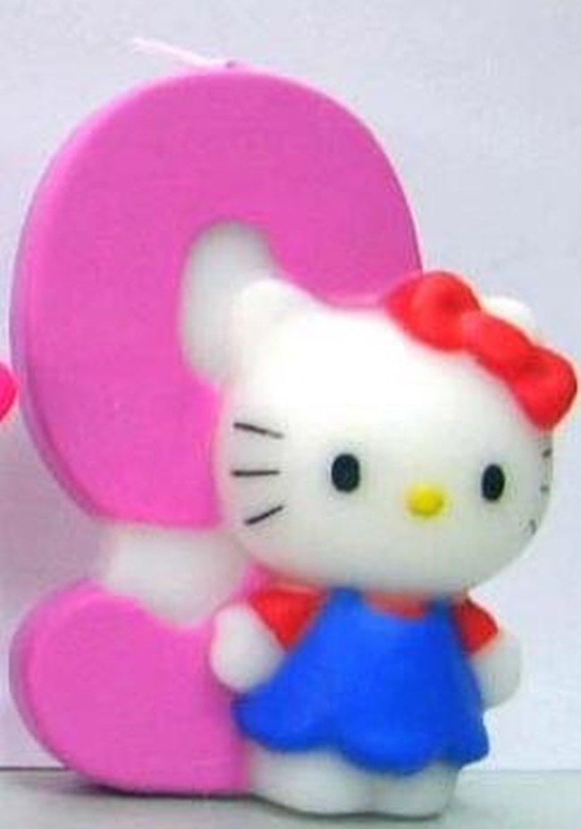 Vela Hello Kitty 7cm: N?9