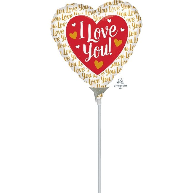 9/23cm Mini I Love You Dorado
