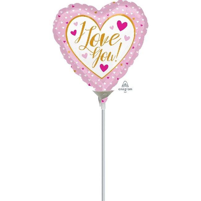 9/23cm Mini I Love You Rosa & Oro