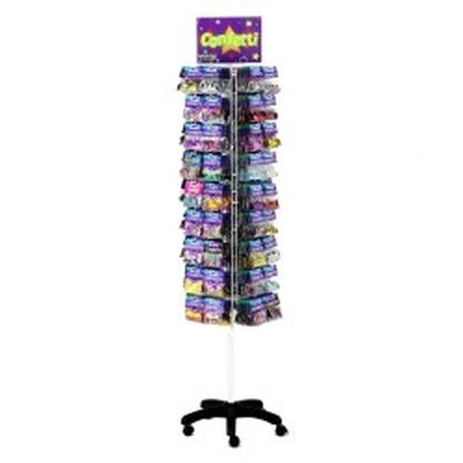 Acc expositor Confetti Rack Floor Spinner 178cm h x 44cm w x 44cm d