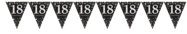 Banderín de papel de aluminio refractivo celebración 18 cumpleaños-4m